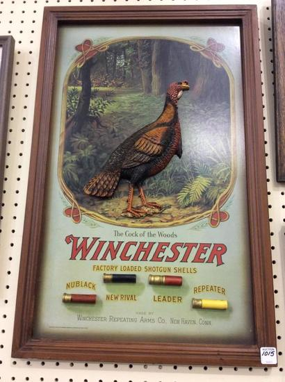 Framed Contemp. Winchester Cock of the Woods
