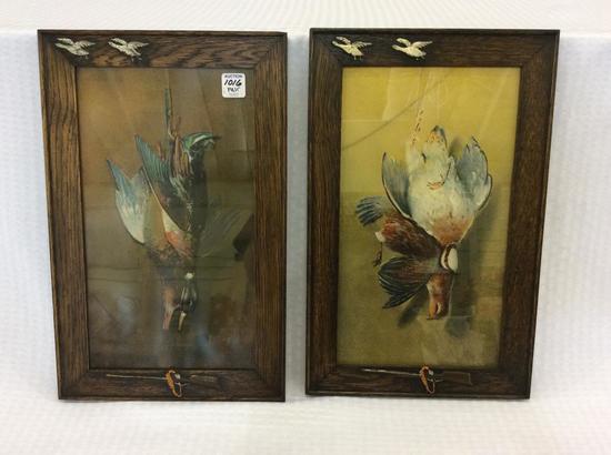 Lot of 2 Sm. Framed Antique Prints