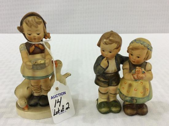Lot of 2 Sm. Goebel Germany Hummel Figurines