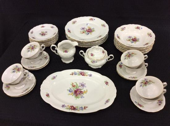 Set of Floral Painted China-Wakbazyck