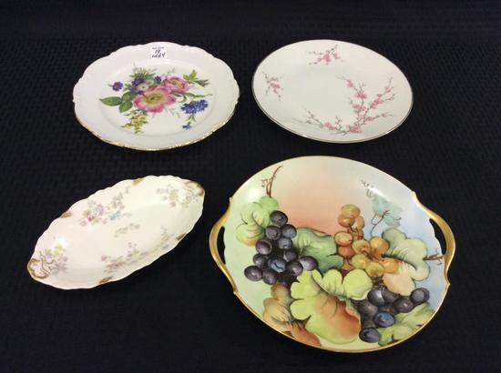 Lot of 4 Painted Dishes Including 3 Plates-