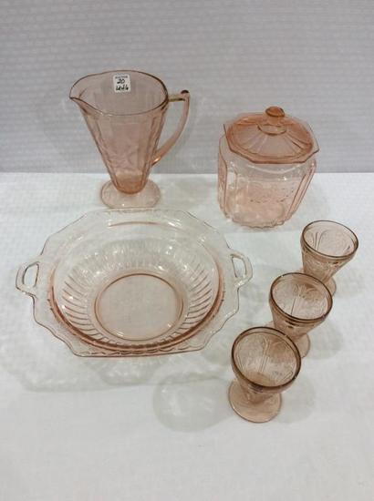 Lot of 6 Depression PIeces Including PItcher
