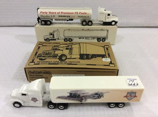 Lot of 2 Ertl 1/64th Scale Die Cast Metal Replica