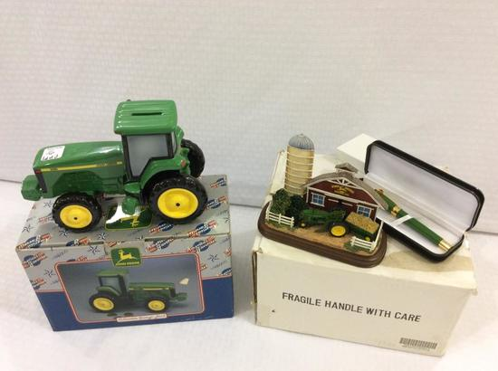 Lot of 2 John Deere Collectibles In Boxes