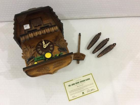 The John Deere Cuckoo Clock by Danbury Mint