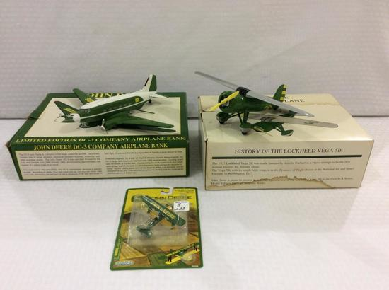 Lot of 3 John Deere Airplanes Including