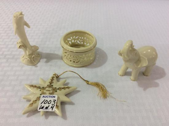 Lot of 4 Lenox Pieces Including 1994