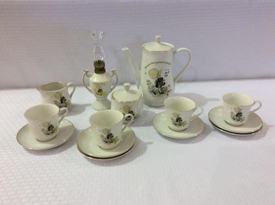 Holly Hobby Coffee Set Including Coffee Pot,