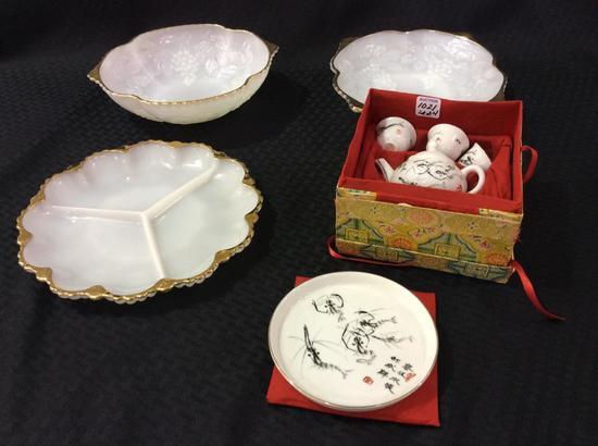 Lot of 4 Including Miniature Oriental Tea Set