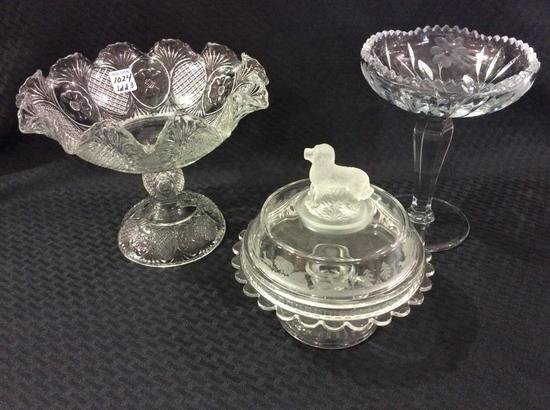 Lot of 3 Glassware Pieces Including