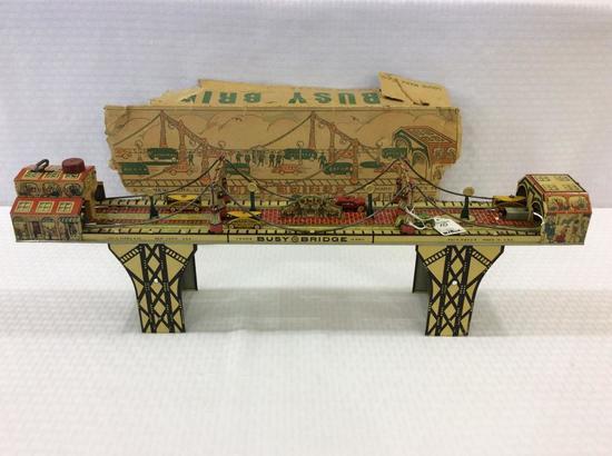 Louis Marx Vintage Tin Busy Bridge