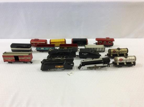 Group of Trains Including Hafner Tin Train