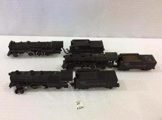 3 Sets of American Flyer Locomotives & Tenders