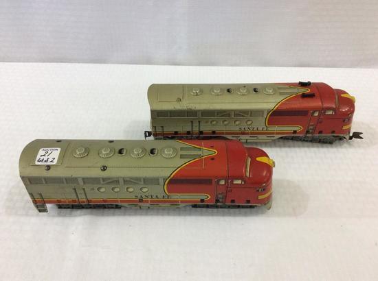 Marx Santa Fe 2 Piece Locomotive Set