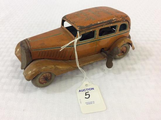 Vintage Key Wind Tin Toy Car