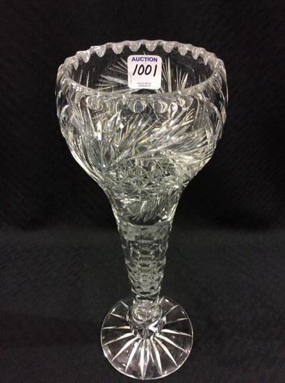 12 Inch Tall Beautiful Cut Glass