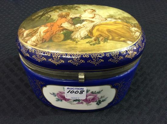Floral Victorian Decorated Dresser Box