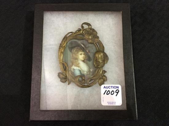 Ornate Metal Stand Up Frame Victorian Portrait
