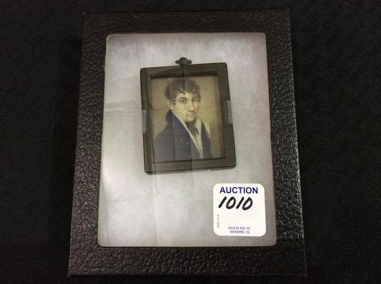 Miniature Vintage Man's Framed Portrait