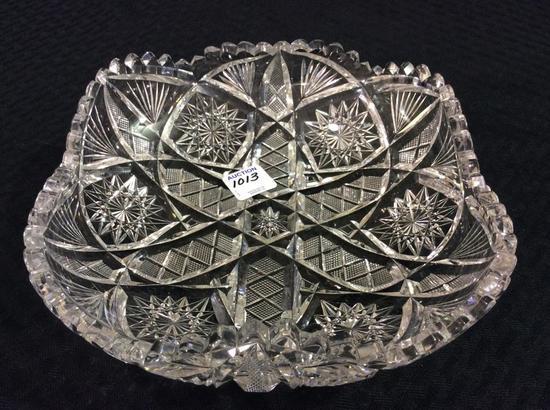 Heavy Cut Glass Dish