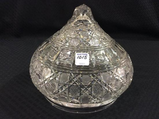 Heavy Cut Glass Lamp Shade ONLY