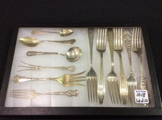 Lot of 12 Various Sterling Silver Flatware