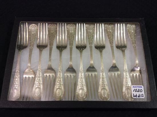 Lot of 12 Matching Ornate Sterling Silver