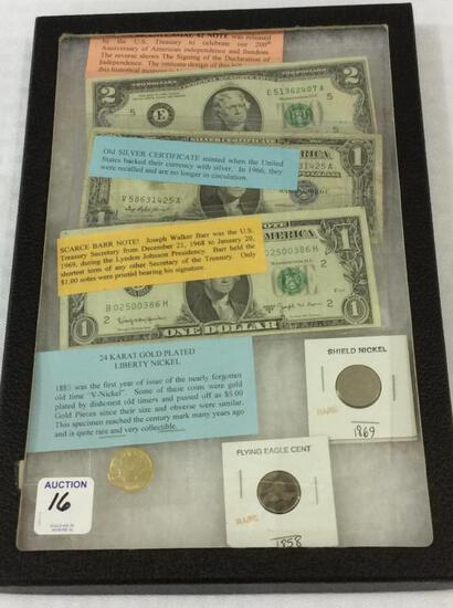 Collection of Paper Currency & Coins