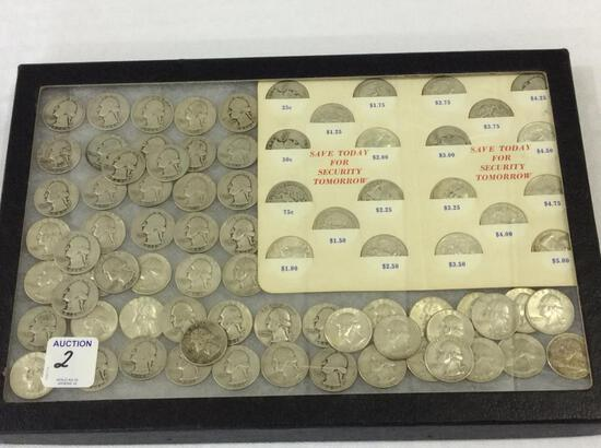 Collection of Approx. 80 Pre-64 Silver Quarters