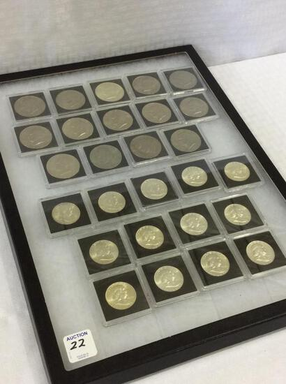Collection of Coins in Plastic Cases Including