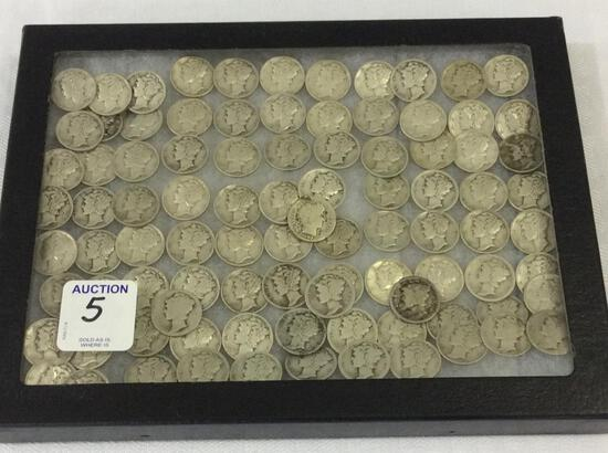Collection of Approx. 94 Mercury Dimes