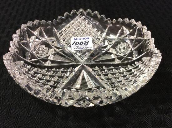 Sm. Cut Glass Bowl-Signed Hawkes
