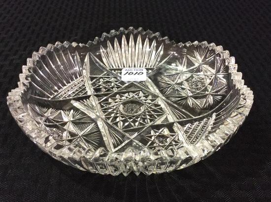 Ornate Cut Glass Dish