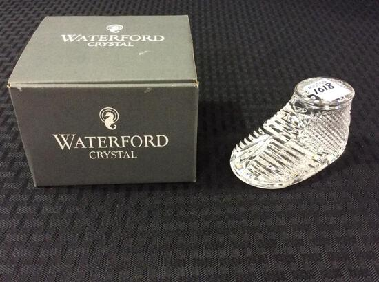 Waterford Crystal Glass Baby Boot w/ Box