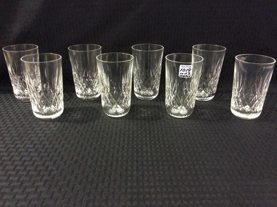 Lot of 8 Signed Waterford Tumblers