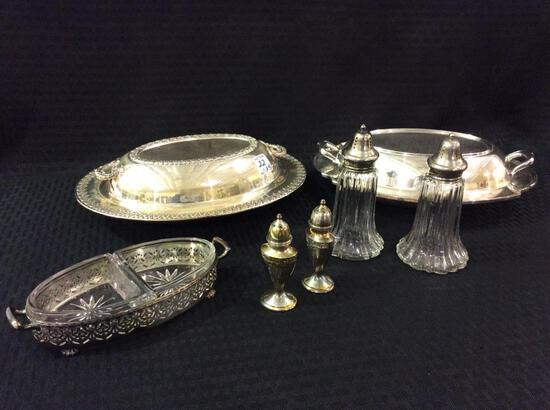 Lot of 5 Silverplate Serving Pieces Including