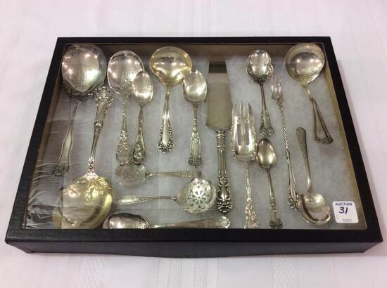 Lot of 16 Various Ornate Silver Plate Flatware
