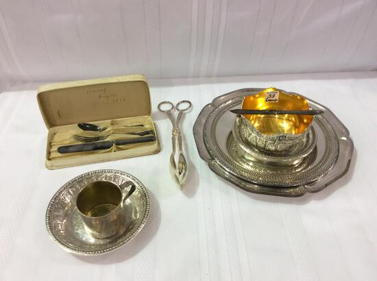 Group of Decorative SIlver Plate Pieces