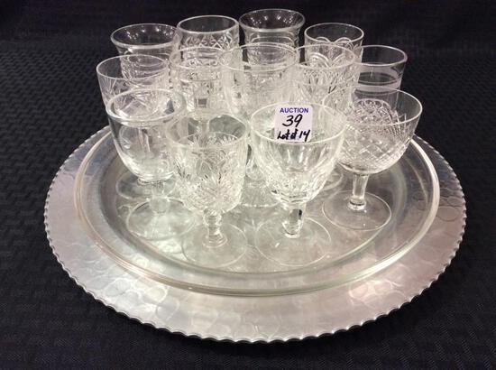Lot of 14 Various Old Sm. Glass