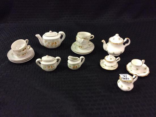 2 Sets of Child's Tea Set