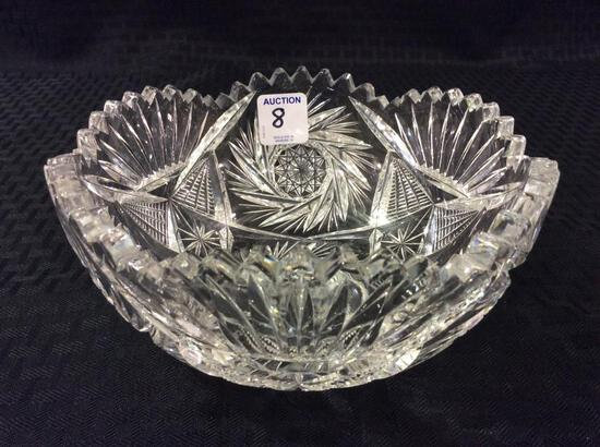 Cut Glass Bowl (Approx. 3 1/4 Inches Tall X