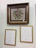 Lot of 3 Framed Needlework Pieces