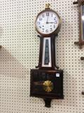 New Haven Wall Hanging Keywind Banjo Clock