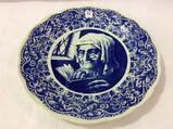 Very Lg. Delft Blue & White Charger Plate by Boch