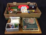Group of Toys Including Chinese Checker