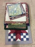 Lg. Group of Quilted Decorative Pieces Including