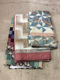 Lot of 3 Decorative Wall Hanging Quilts Including