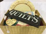 Basket Filled w/ Many Doilies, Un-Finished Quilt