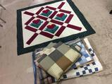 Lot of 5 Decorative Quilted Pieces