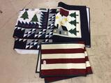 Lot of 3 Decorative Quilted Pieces Including